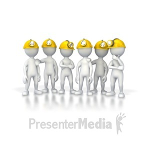 ID# 4655 - Group Of Miners - Presentation Clipart