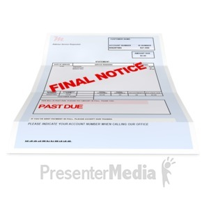 ID# 4696 - Medical Bill Past Due - Presentation Clipart
