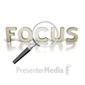 ID# 4743 - Focus Word Magnifying Glass - Presentation Clipart
