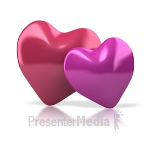 ID# 4752 - Pair Of Hearts - Presentation Clipart