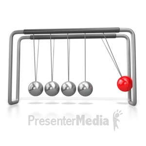 ID# 4762 - Stand Out Pendulum Ball Newtons Cradle - Presentation Clipart