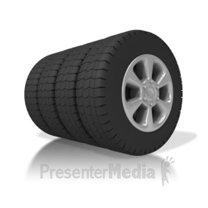 ID# 4811 - Set Of Tires - Presentation Clipart