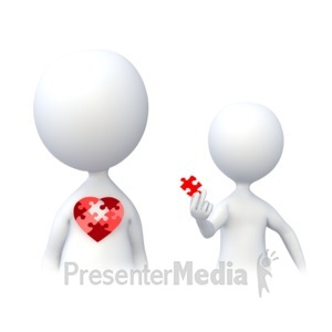 ID# 4831 - Holding a Piece of the Heart - Presentation Clipart