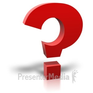 ID# 4859 - Single Red Question Mark - Presentation Clipart