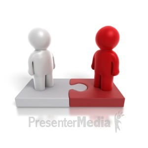 ID# 4872 - Two Way Puzzle People - Presentation Clipart