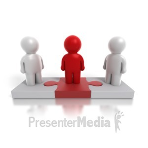 ID# 4876 - Three Way Puzzle People - Presentation Clipart