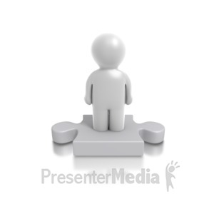ID# 4905 - Single Puzzle Person - Presentation Clipart