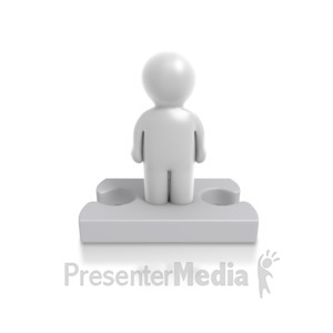 ID# 4906 - Single Puzzle Person - Presentation Clipart