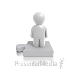 ID# 4907 - Single Puzzle Person - Presentation Clipart