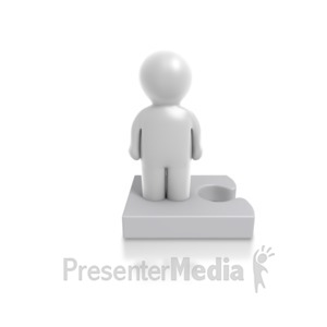 ID# 4909 - Single Puzzle Person - Presentation Clipart