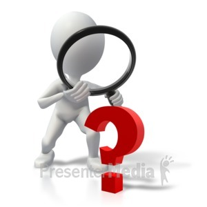 ID# 4919 - Stick Figure Searching For Answers - Presentation Clipart
