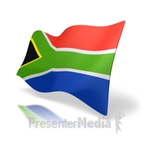 ID# 4922 - South Africa Flag Perspective - Presentation Clipart