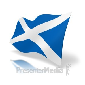 ID# 4927 - Scotland Flag Perspective - Presentation Clipart