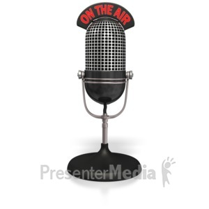 ID# 4940 - Radio Mic On The Air  - Presentation Clipart