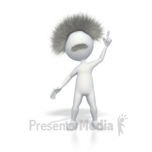 ID# 4984 - Smart Stick Figure with a Brilliant Idea - Presentation Clipart