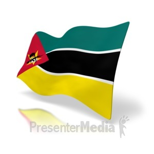 ID# 5013 - Mozambique Flag - Presentation Clipart