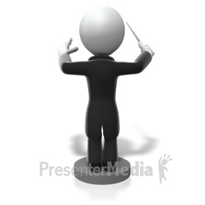 ID# 5019 - Back of Conductor Directing - Presentation Clipart