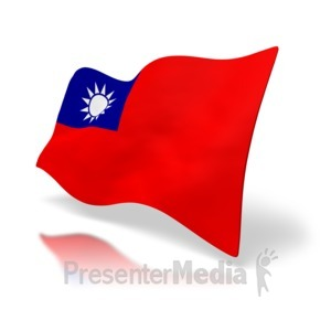 ID# 5020 - Republic of China - Taiwan Flag - Presentation Clipart