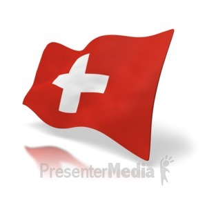 ID# 5026 - Switzerland Flag - Presentation Clipart