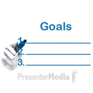ID# 5038 - Write Your Goals Here - Presentation Clipart