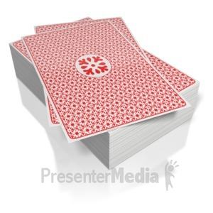 ID# 5055 - Deck of Cards  - Presentation Clipart
