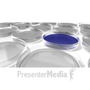 ID# 5067 - Group Of Petri Dishes - Presentation Clipart