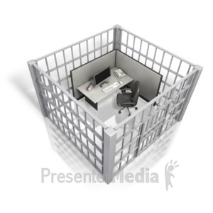 ID# 5084 - Cubicle in Prison - Presentation Clipart