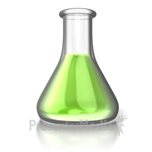 ID# 5110 - Single Chemistry Flask - Presentation Clipart