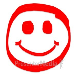 ID# 5118 - Smiley Face Painted - Presentation Clipart