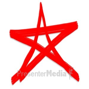 ID# 5125 - Star Painted Symbol - Presentation Clipart