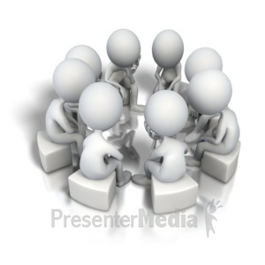 ID# 5160 - Corporate Circle Think Tank - Presentation Clipart