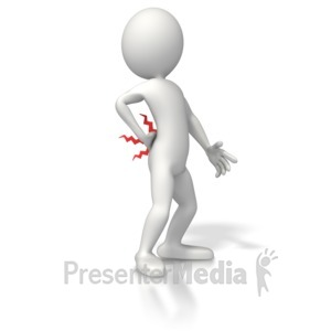 ID# 5228 - Figure With Back Pain - Presentation Clipart