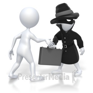 ID# 5264 - Spy Briefcase Swap - Presentation Clipart