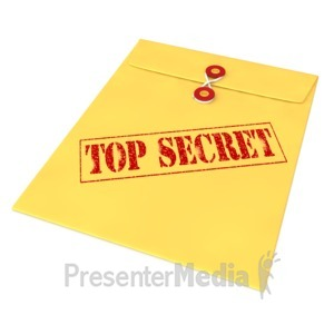 ID# 5266 - Top Secret Envelope - Presentation Clipart