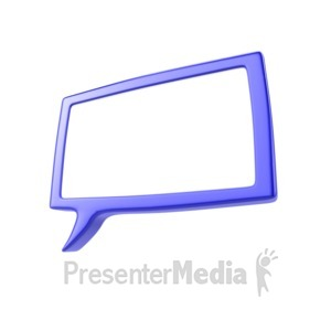 ID# 5297 - Speech Bubble - Presentation Clipart