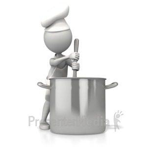 ID# 5299 - Chef Stirring Pot - Presentation Clipart