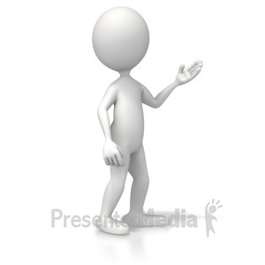ID# 5300 - Casual Pose - Presentation Clipart