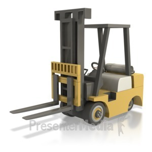 ID# 5312 - Forklift - Presentation Clipart