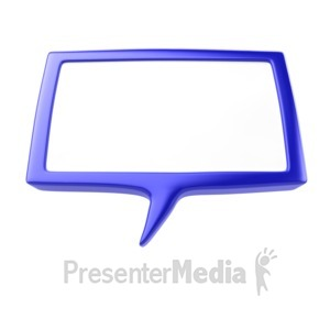 ID# 5319 - Speech Bubble - Presentation Clipart