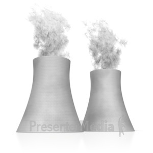 ID# 5323 - Nuclear Cooling Towers - Presentation Clipart