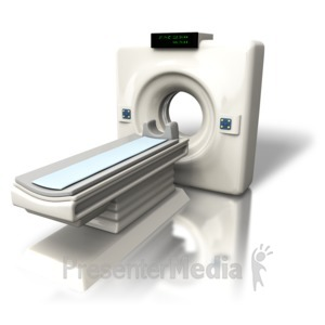 ID# 5332 - Cat (CT) Scanner Angled - Presentation Clipart
