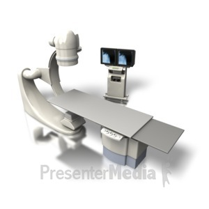 ID# 5337 - OEC C-arm Xray Machine Angled - Presentation Clipart