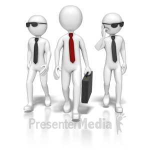 ID# 5339 - Business Team Walking - Presentation Clipart