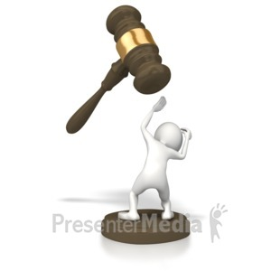 ID# 5341 - Legal Trouble - Presentation Clipart