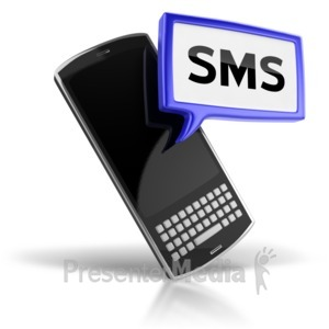 ID# 5358 - SMS Text Messaging Icon - Presentation Clipart