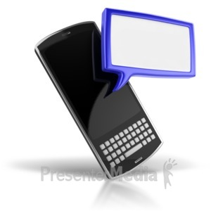 ID# 5363 - Your Text Messaging Phone - Presentation Clipart