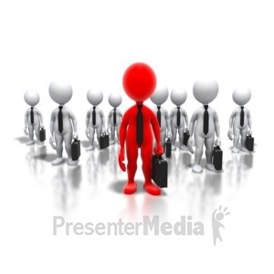 ID# 5380 - Business Professionals Leader - Presentation Clipart