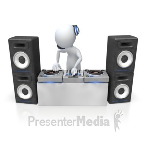 ID# 5384 - Dj Mixing Turntables - Presentation Clipart