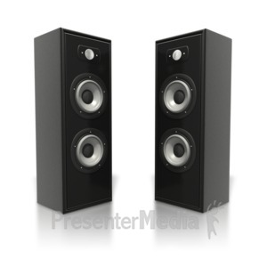 ID# 5393 - Large Speaker Towers - Presentation Clipart