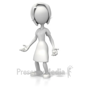 ID# 5395 - Woman Casual Pose - Presentation Clipart